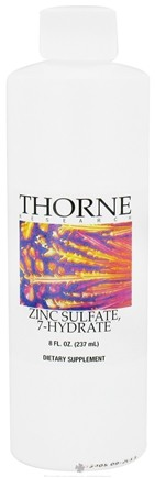 DROPPED: Thorne Research - Zinc Sulfate 7-Hydrate - 8 oz. CLEARANCE PRICED