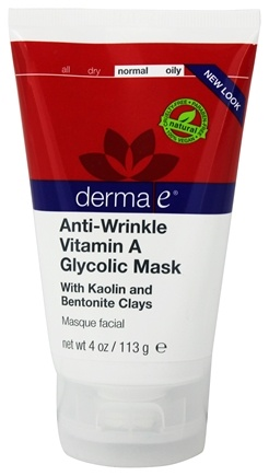 Derma-E - Anti-Wrinkle Vitamin A Glycolic Mask - 4 oz. Formerly Vitamin A Pore Refining Mask
