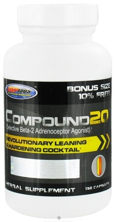 DROPPED: USP Labs - Compound 20 Revolutionary Leaning & Hardening Cocktail Bonus Size - 132 Capsules
