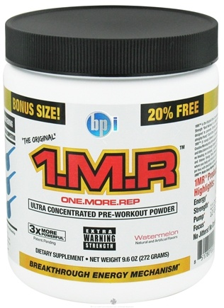 DROPPED: BPI Sports - 1 M.R Ultra Concentrated Pre-Workout Powder Bonus Size - 34 Servings Watermelon - 272 Grams CLEARANCE PRICED