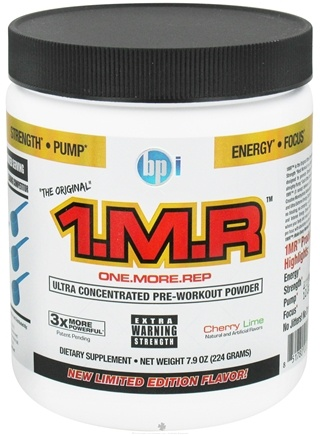 DROPPED: BPI Sports - 1 M.R Ultra Concentrated Pre-Workout Powder - 28 Servings Cherry Lime - 224 Grams CLEARANCE PRICED