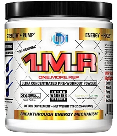 DROPPED: BPI Sports - 1 M.R Ultra Concentrated Pre-Workout Powder - 28 Servings Lemon Lime - 224 Grams CLEARANCE PRICED