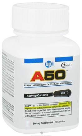 DROPPED: BPI Sports - A50 Bio-Kinetic Anabolic 450 mg. - 60 Capsules