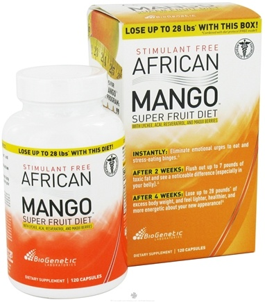 DROPPED: BioGenetic Laboratories - African Mango Superfruit Diet - 120 Capsules