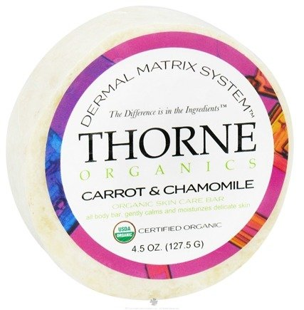 DROPPED: Thorne Research - Organics Skin Care Bar Carrot and Chamomile - 4.5 oz. CLEARANCE PRICED