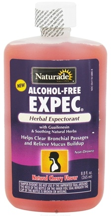 DROPPED: Naturade - Expec Herbal Expectorant Alcohol-Free with Guaifenesin Natural Cherry Flavor - 8.8 oz.