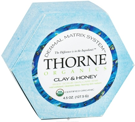 DROPPED: Thorne Research - Organics Body Scrub Skin Care Bar Clay and Honey - 4.5 oz. CLEARANCE PRICED