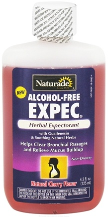 DROPPED: Naturade - Expec Herbal Expectorant Alcohol-Free Natural Cherry Flavor - 4.2 oz. CLEARANCE PRICED
