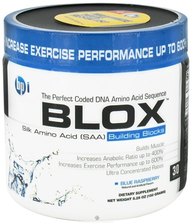 DROPPED: BPI Sports - Blox Silk Amino Acid Building Blocks - 30 Servings Blue Raspberry - 150 Grams