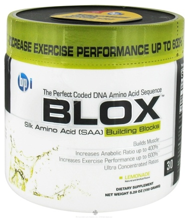 DROPPED: BPI Sports - Blox Silk Amino Acid Building Blocks - 30 Servings Lemonade - 150 Grams CLEARANCE PRICED