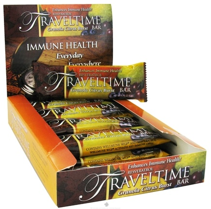DROPPED: Resvez - Traveltime Resveratrol Bar Granola Citrus Burst - 1.76 oz. CLEARANCE PRICED
