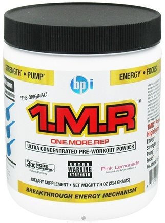 DROPPED: BPI Sports - 1 M.R Ultra Concentrated Pre-Workout Powder - 28 Servings Pink Lemonade - 224 Grams CLEARANCE PRICED