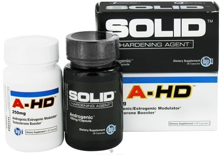 DROPPED: BPI Sports - Solid Hardening Agent 100 mg. & A-HD 250 mg. Get Hard Stack Bonus Pack - 28 Capsules + 28 Capsules