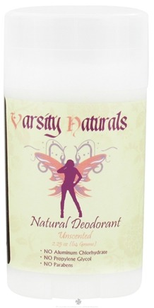 DROPPED: Varsity Naturals - Teen Natural Deodorant For Girls Unscented - 2.25 oz. CLEARANCE PRICED