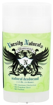 DROPPED: Varsity Naturals - Teen Natural Deodorant For Boys Unscented - 2.25 oz. CLEARANCE PRICED