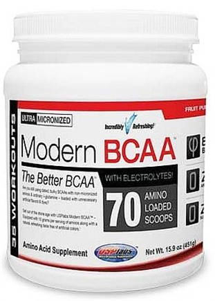 DROPPED: USP Labs - Modern BCAA Ultra Micronized Amino Acid Supplement Fruit Punch - 15 oz.