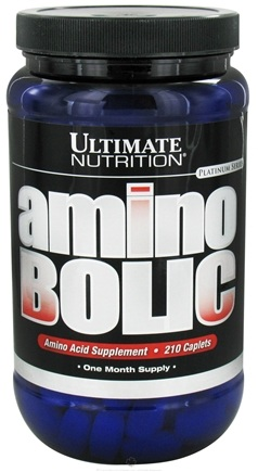 DROPPED: Ultimate Nutrition - Platinum Series Amino Bolic Amino Acids - 210 Caplets CLEARANCE PRICED
