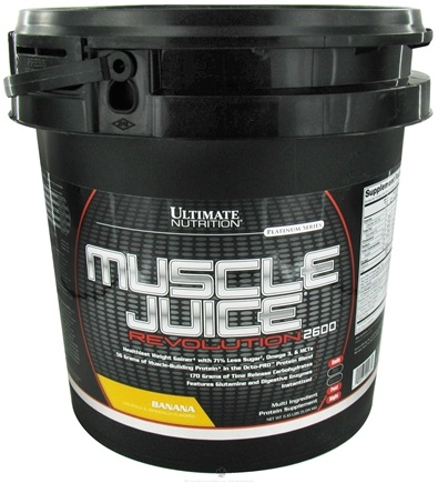 DROPPED: Ultimate Nutrition - Platinum Series Muscle Juice Revolution 2600 Banana - 11.1 lbs. CLEARANCE PRICED