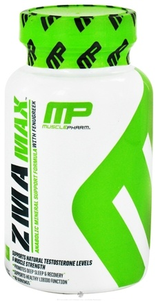 DROPPED: Muscle Pharm - ZMA Max Anabolic Mineral Support Formula with Fenugreek - 60 Capsules