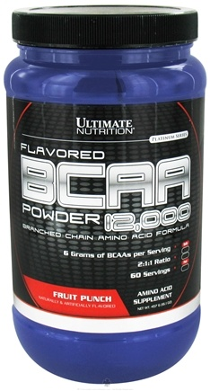 DROPPED: Ultimate Nutrition - Platinum Series Flavored BCAA Powder 12,000 Branched Amino Acid Formula Fruit Punch 60 Servings - 457 Grams CLEARANCE PRICED