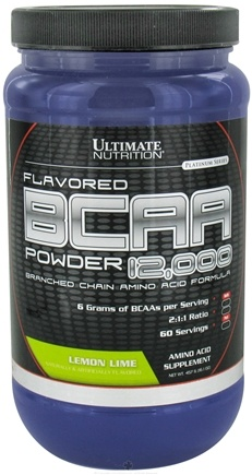 DROPPED: Ultimate Nutrition - Platinum Series Flavored BCAA Powder 12,000 Branched Amino Acid Formula Lemon Lime 60 Serving - 457 Grams CLEARANCE PRICED