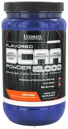 DROPPED: Ultimate Nutrition - Platinum Series Flavored BCAA Powder 12,000 Branched Amino Acid Formula Orange 60 Servings - 457 Grams