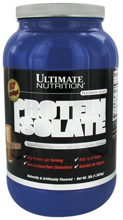 DROPPED: Ultimate Nutrition - Platinum Series Protein Isolate Chocolate Creme - 3 lbs.