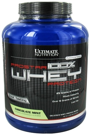 DROPPED: Ultimate Nutrition - Platinum Series ProStar 100% Whey Protein Chocolate Mint - 5.28 lbs. CLEARANCE PRICED