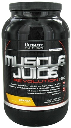 DROPPED: Ultimate Nutrition - Platinum Series Muscle Juice Revolution 2600 Banana - 4.69 lbs. CLEARANCE PRICED