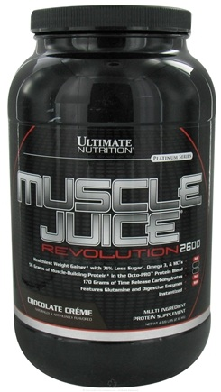 DROPPED: Ultimate Nutrition - Platinum Series Muscle Juice Revolution 2600 Chocolate Creme - 4.69 lbs. CLEARANCE PRICED