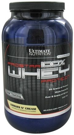 DROPPED: Ultimate Nutrition - Platinum Series ProStar 100% Whey Protein Cookies N Cream - 2 lbs. CLEARANCE PRICED