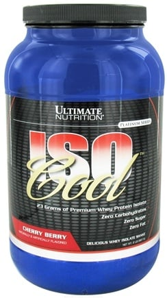 DROPPED: Ultimate Nutrition - Iso Cool Cherry Berry - 2 lbs. CLEARANCE PRICED