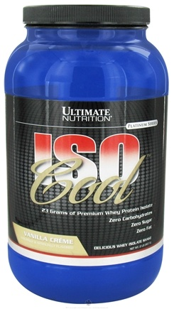 DROPPED: Ultimate Nutrition - Iso Cool Vanilla Creme - 2 lbs. CLEARANCE PRICED