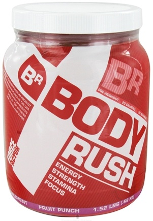 DROPPED: Force Factor - Body Rush Energy Strength Stamina Focus Fruit Punch - 1.52 lbs. CLEARANCE PRICED