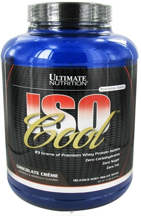 DROPPED: Ultimate Nutrition - Iso Cool Chocolate Creme - 5 lbs.