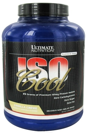 DROPPED: Ultimate Nutrition - Iso Cool Vanilla Creme - 5 lbs.
