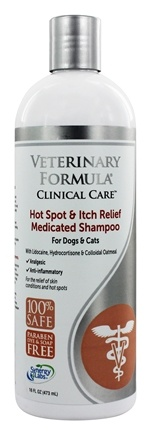 Synergy Labs - Veterinary Formula Clinical Care Medicated Shampoo Hot Spot & Itch Relief - 17 oz.