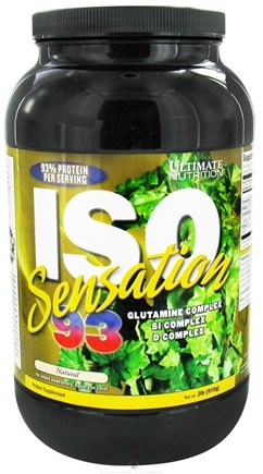 DROPPED: Ultimate Nutrition - Iso Sensation 93 Natural - 2 lbs.