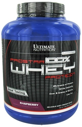 DROPPED: Ultimate Nutrition - Platinum Series ProStar 100% Whey Protein Raspberry - 5.28 lbs. CLEARANCE PRICED