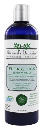 Richard's Organics - Flea & Tick Shampoo - 12 oz.