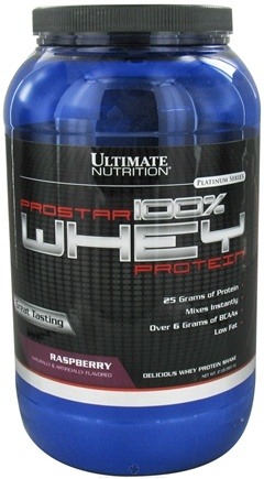 DROPPED: Ultimate Nutrition - Platinum Series ProStar 100% Whey Protein Raspberry - 2 lbs. CLEARANCE PRICED