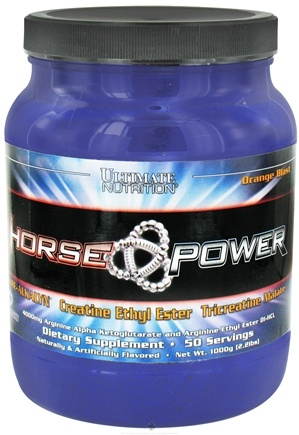 DROPPED: Ultimate Nutrition - Horse Power Orange Blast - 2.2 lbs. CLEARANCE PRICED