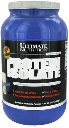 DROPPED: Ultimate Nutrition - Platinum Series Protein Isolate Vanilla Creme - 3 lbs. CLEARANCE PRICED