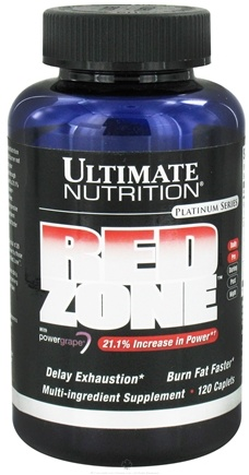 DROPPED: Ultimate Nutrition - Platinum Series Red Zone With Power Grape - 120 Caplets CLEARANCE PRICED