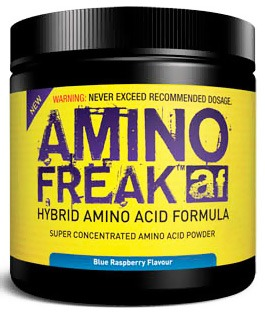 DROPPED: PharmaFreak Technologies - Amino Freak Hybrid Amino Acid Formula - 45 Servings Blue Raspberry - 192 Grams CLEARANCE PRICED