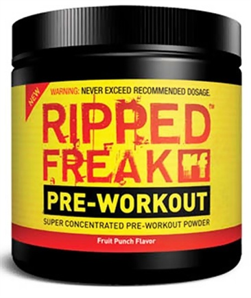 DROPPED: PharmaFreak Technologies - Ripped Freak Pre-Workout Super Concentrated Powder - 45 Servings Fruit Punch - 200 Grams CLEARANCE PRICED