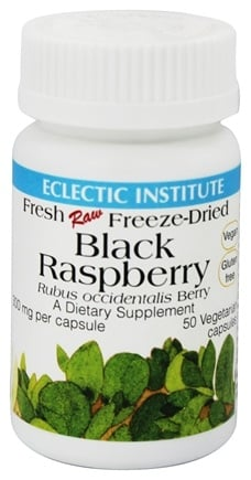 DROPPED: Eclectic Institute - Black Raspberry 300 mg. - 50 Vegetarian Capsules