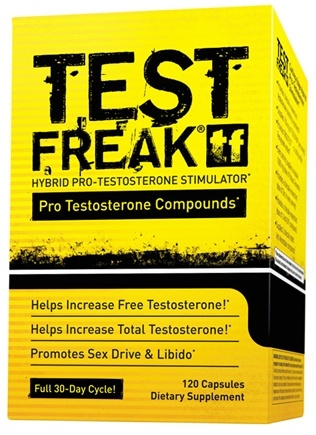 DROPPED: PharmaFreak Technologies - Test Freak Hybrid Pro-Testosterone Stimulator - 120 Capsules
