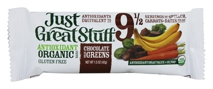 Betty Lou's - Just Great Stuff Bar Organic Chocolate Dream Greens - 1.5 oz.