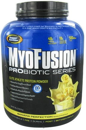 DROPPED: Gaspari Nutrition - MyoFusion Probiotic Series Protein Banana Perfection - 5 lbs.